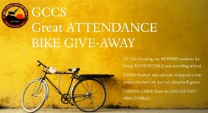 GCCS Great ATTENDANCE Bike Give Away