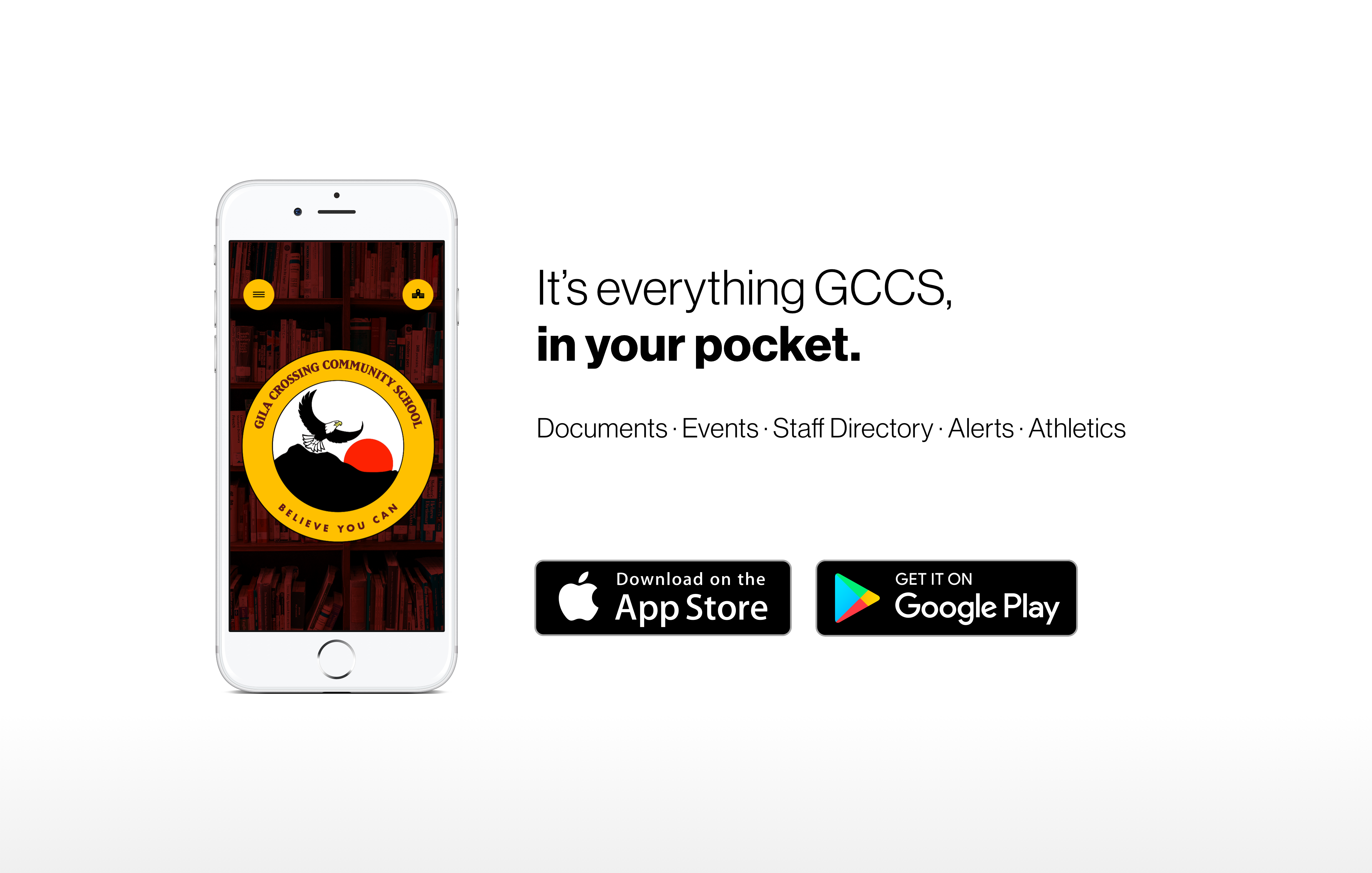 Mobile App Promo Poster - It's Everything GCCS in your pocket